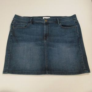 Ann Taylor Loft Stretch Denim Mini Skirt