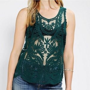 |Firm| UO | Pins And Needles Embroidered Tank