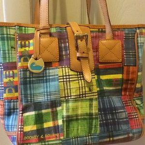 Dooney and Bourke handbag with leather trim