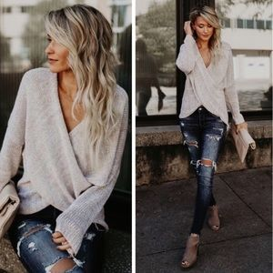 Sweaters - Arriving Today!! Wrap Sweater in Oatmeal