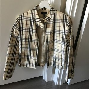 Vintage Burberry bomber check jacket