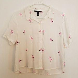 Cropped t-shirt.