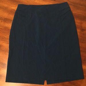 New York & Company dark teal pencil skirt