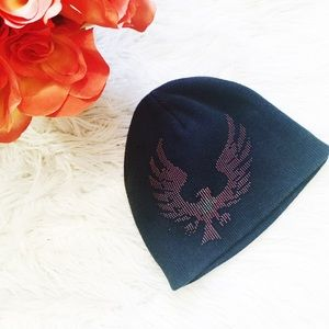 Other - Boy's black beanie with red embellished design