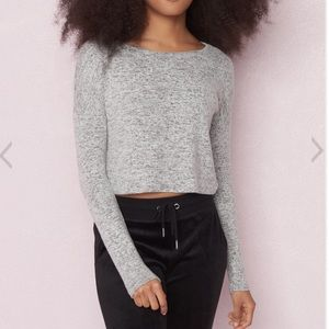 Super soft cropped sweater, size S