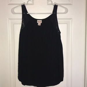 Black tank with lace detail