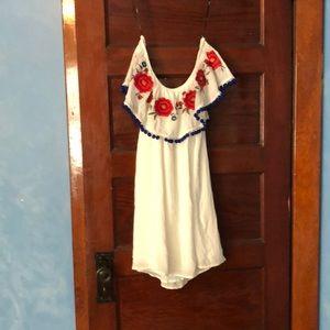Forever 21 off shoulder short white dress