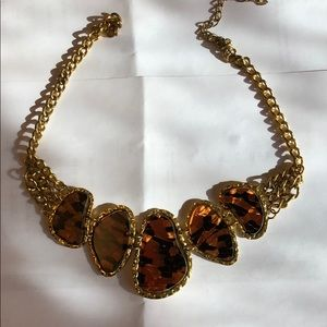 Jewelry - Gold plate animal print chain necklaces