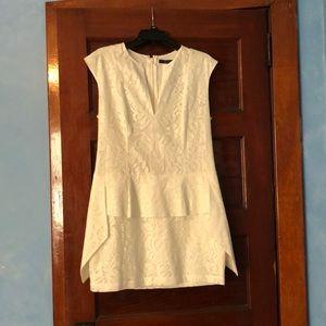 """BCBGMAXAZRIA """"ISABEL"""" WHITE MINI DRESS"""