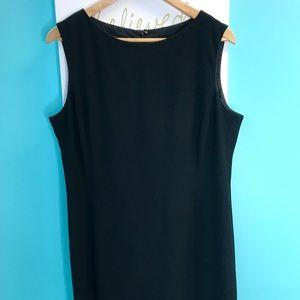 Jones New York Size 14 Black Sheath Dress