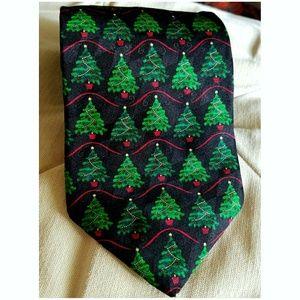 🎄 HALLMARK HOLIDAY Silk Christmas Tree Tie 🎄
