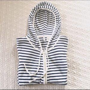 Moth Zip-Up Striped Hoodie