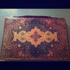 Small vintage clutch. Beautiful Indian design.