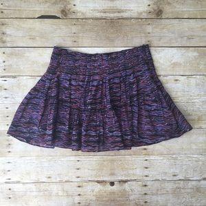Free People Patterned Mini Skirt