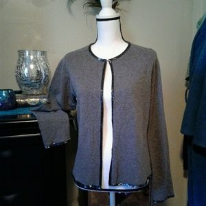 Ralph Lauren bead trim angora sweater