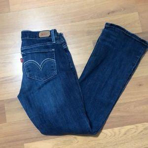 Levi's 524 superlow jeans size 7 short/petite