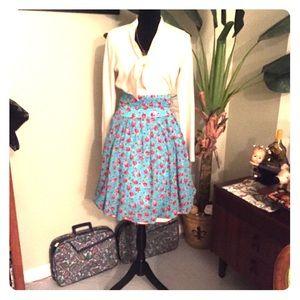 Betsy Johnson Pinup/Rockabilly Floral Swim Skirt