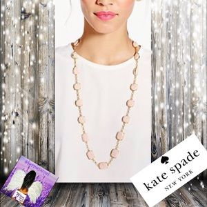 Kate Spade New Swirl Around Scatter Pink Necklace