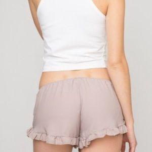Brandy Melville Cotton Vodi Shorts in Mauve