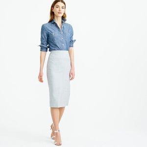 J. Crew Director Pencil Skirt, Grey 12
