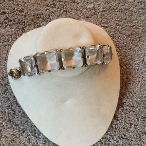J crew chunky bracelet bling rhinestone clunk