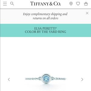 Tiffany & Co. Elsa Peretti Color by the Yard ring
