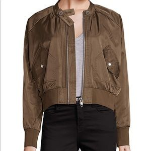 Free People Army Green Bomber