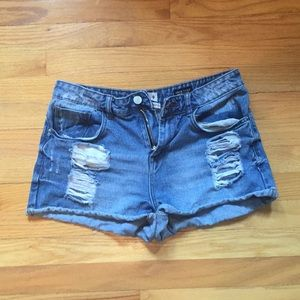 Jean Short Size 9 High Rise