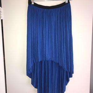 Every Hi Low Asymmetrical Skirt in Royal Blue