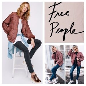 Free People Dolman Quilted Jacket.  NWT.