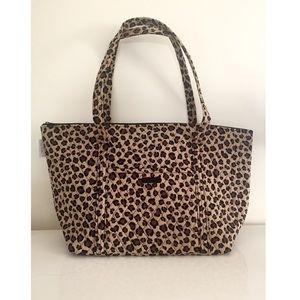NWT Vera Bradley Leopard Miller Travel Bag Tote