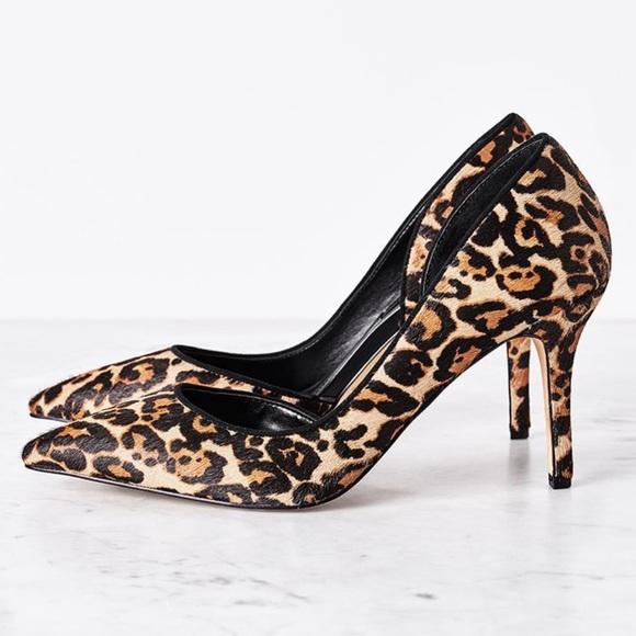 131bcda59e614 White House Black Market Leopard Calf Hair Pumps