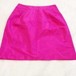 Banana Republic Bold Hot Pink Taffeta Skirt   Sz 2