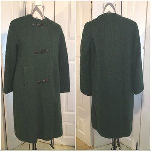 GORGEOUS 1960s vintage green coat