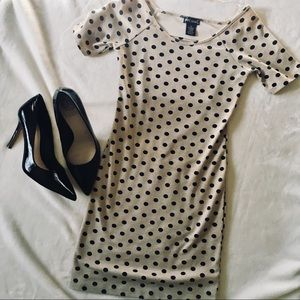 WET SEAL Polka Dot Bodycon Mini Dress