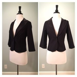 NWOT. Dressy Black Short Blazer