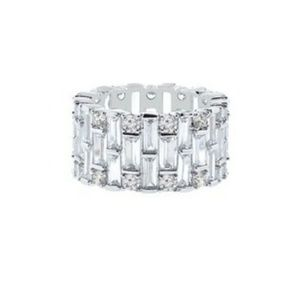 Silver Eternity Ring With Swarovski Crystals