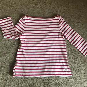 Kate Spade Broome Street Red Stripe Top Size L