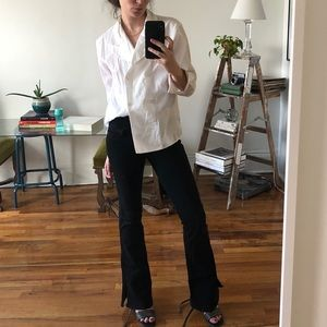 Vintage White Double Breasted Button Down Blouse