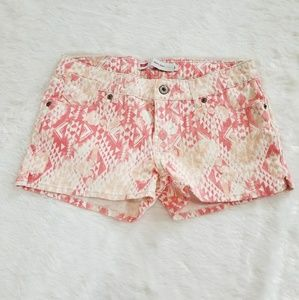 juniors levis pink tribal print shorty shorts
