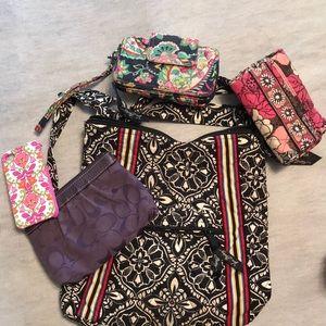 Vera Bradley accessories and coach wristlet