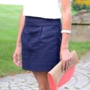 J. Crew - Navy Blue Textured Skirt