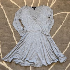 FOREVER 21 PLUNGING GREY DRESS