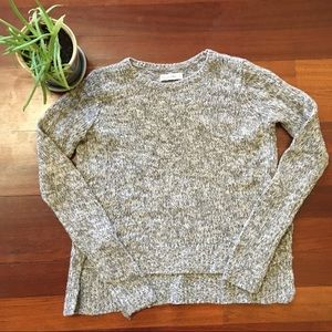 A&F Cozy Cropped Knit Sweater Gray