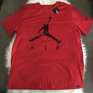 NWT Men's red Jordan top