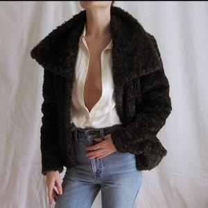 90s Faux Fur Coat