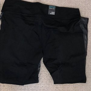 INC pants with black  faux leather front size 18W
