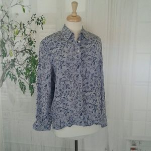 Allison Taylor Long Sleeves Silk Blouse