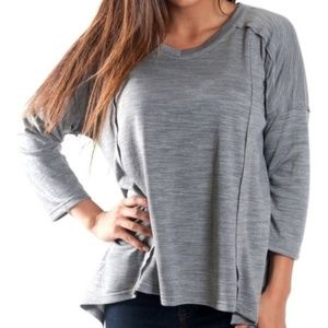 All For Color Oversized flowy gray top S M L