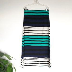 Striped Maxi Skirt K